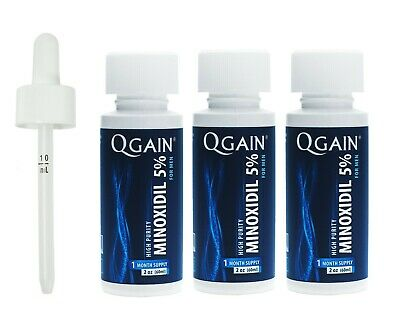 Qgain High Purity Minoxidil 5% for MEN 3 month supply