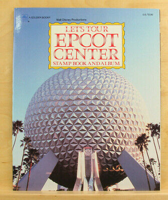 Vintage Walt Disney World: Let's Tour Epcot Center Stamp Book & Album - Complete