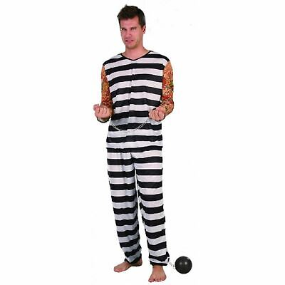 Men's Jail Bird Costume Adult Horror Fancy Party Dress Scary Halloween Outfit