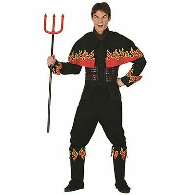 Men's Flaming Devil Costume Adult Horror Fancy Party Dress Halloween Outfit