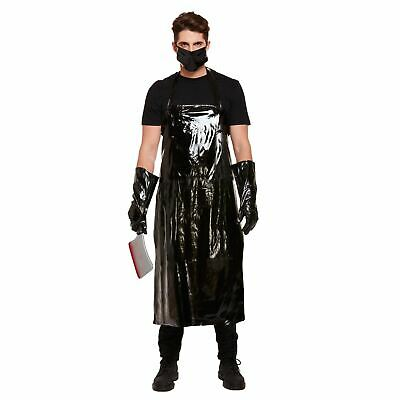 Men's Scary Butcher Costume Adult Horror Fancy Party Dress Halloween Outfit