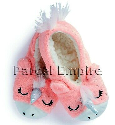 Official MINNIE MOUSE / UNICORN Footlets Girls Warm Slippers Footsies Disney UK