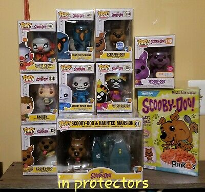 Funko pop! Scooby Doo Lot Set of 8 + Cereal + Mansion in protectors NRFB