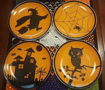 The Company Store Halloween Plates Set Of 4  ~NEW~