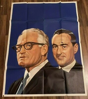 """1964 Campaign Poster, Barry Goldwater & William Miller, 42"""" x 56"""""""