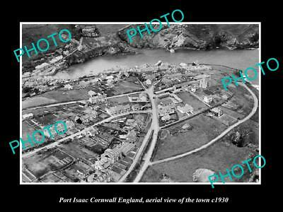OLD 8x6 HISTORIC PHOTO OF PORT ISAAC CORNWALL ENGLAND VIEW OF THE TOWN 1930 2