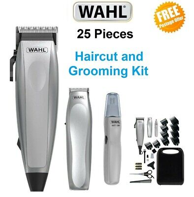 WAHL Mens Hair Clipper Trimmer Set Grooming Electric Beard Body Haircut Ear Nose