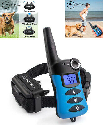 Ipets Waterproof Dog Bark Shock Remote Training E Collar Rechargeable 1000FT