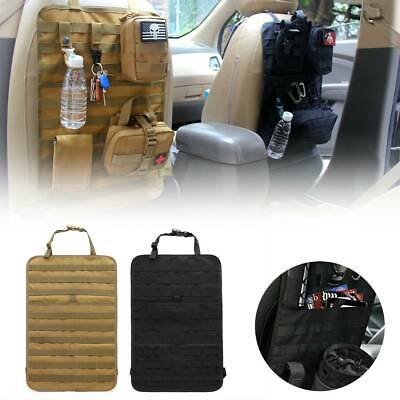 Seat Cover Tactical Molle Vehicle Panel Protector 600D Car Seat Back Organizer