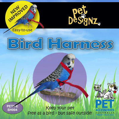Pet Designz Bird Harness Anti Bite Bird Training Aid