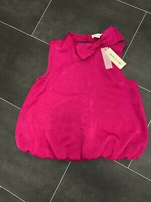 BNWT Girls RIVER ISLAND Pink Blouse Top With Bow, 8 Years