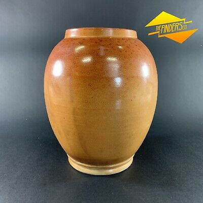 Beautiful Vintage Australian? Pottery Large Speckle Glazed Pot Urn Vase Ceramics