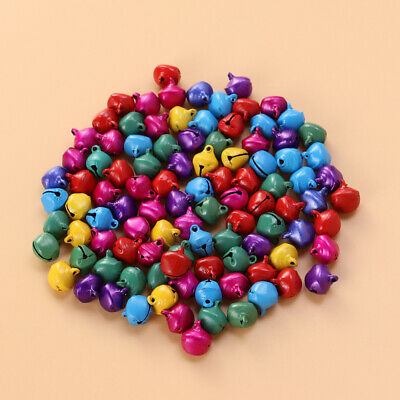 100PCS Jingle Bells 12mm Decorative Decoration Toys Supply for Christmas Jewelry