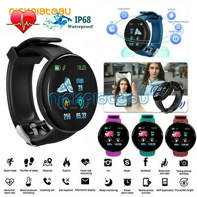 Smart Watch Round Sport Activity Fitness Tracker For Kids Fit bit Android iOS UK