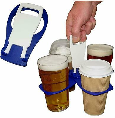 Pint Beer Coffee Drinks Holder Carrier Carry Folding Take Away Drink Tray 4 Cup
