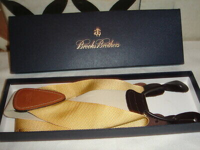 Brooks Brothers yellow Braces - Boxed