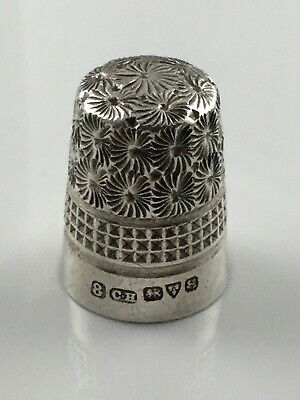 No. 8 - Charles Horner Antique Sterling Silver English Thimble 1923 Chester
