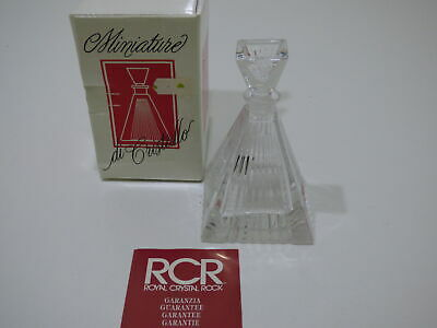 Vintage Royal Crystal Rock Miniature Di Cristallo Crystal Perfume Bottle NIB