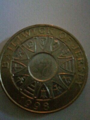 £2 two pound coin Bailiwick of Jersey 1998 - circulated