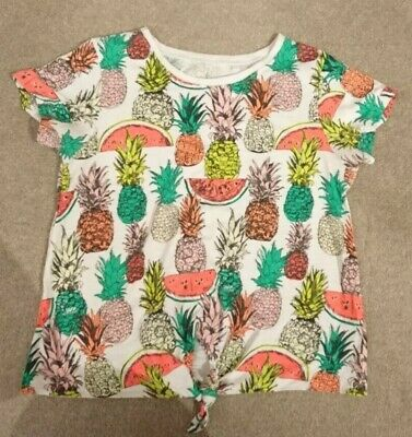 Next Girls Pineapple T-shirt Age 11 years