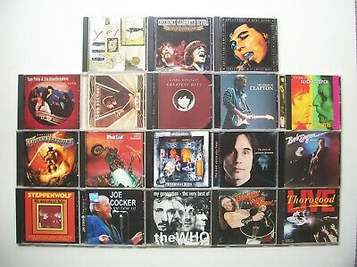 Lot of 18 Classic Rock CDs Yes, Roxy Music, Creedence, Petty, Clapton, Who,  etc