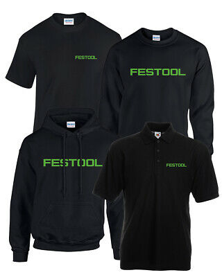 FESTOOL Black Green Logo Hoodie / T-Shirt Sizes S - 5XL Power Tool Work Wear New