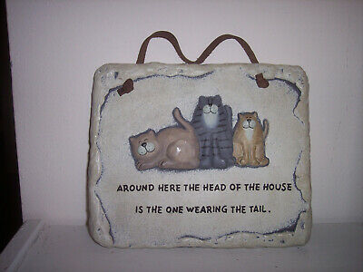 Crazy Mountain Exclusive Designs Cat Wall Plaque