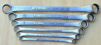 Vintage 6 Piece Craftsman =V= Made in USA SAE Offset Double Box End Wrench Set