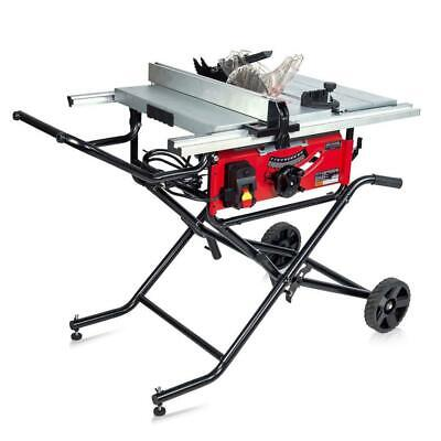 15 Amp 10 In. Commercial Bench Top Table Saw Portable Stand Portability Large