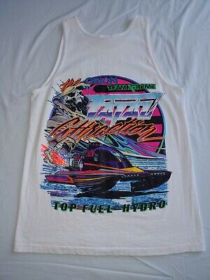Vintage 90s The Orion Team Xtreme Fatal Attraction Top Fuel Hydro Tank Top Sz M