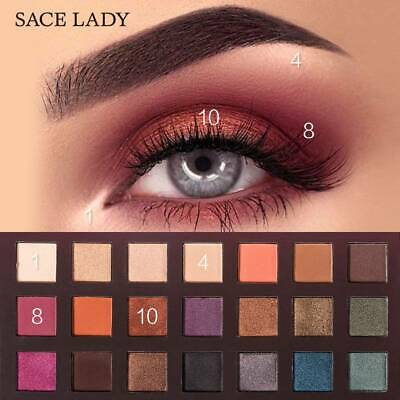 SACE LADY 21 Colors Glitter Eyeshadow Palette Matte Eye Shadow Make Up US