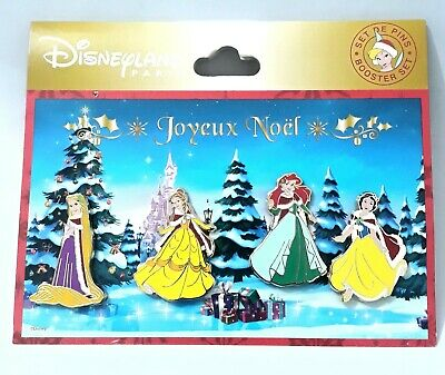 Joyeux Noel Violetta.Disneyland Paris Booster Set De 4 Pins Princesses
