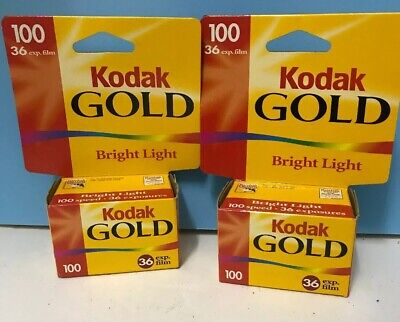 Lot Of 2 , Kodak Gold Bright Sun 100, 36 Exposures , Exp 9/2001