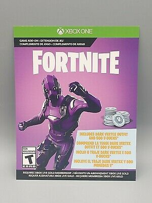 Fortnite Full Game Download Card 500 VBucks Dark Vertex Skin Set XBOX One S X