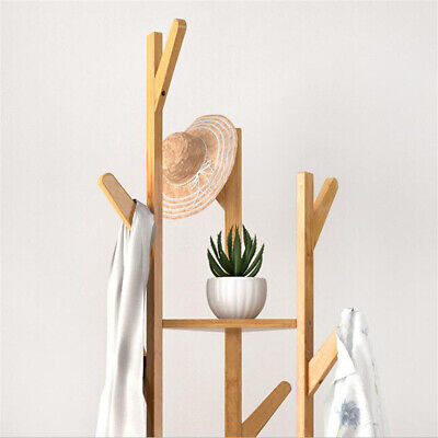 170cm Bamboo Coat Clothes Rack Bedroom Entryway Hall Corner Clothing Stand Shelf