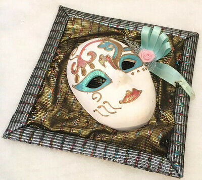 Porcelain Venetian Wall Mask With Frame
