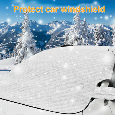 Car Magnetic Windshield Windscreen Cover Snow Ice Frost Wind Winter Protector CA