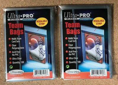 200 Ultra Pro Team Cards Set Resealable Soft Sleeves Bag Holder NO PVC AcidFree