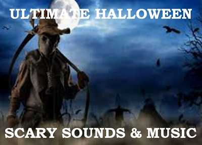 🎃 Ultimate Scary Sounds & Music For Your Halloween Party 4 Hours!🧹 Mp3 Cd 👻