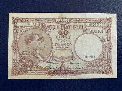 Belgian- 20 Francs 1945  -  Very Fine