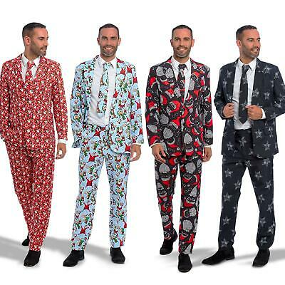 Mens Stag Do Christmas Xmas Suit Fancy Dress Costume Stand Out Party Outfit Tree