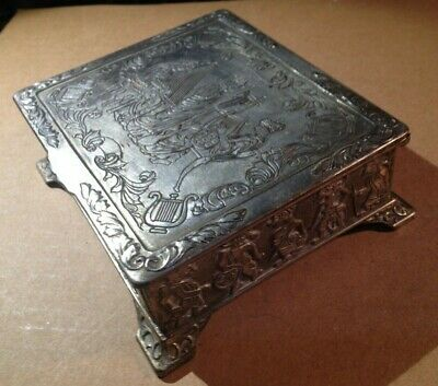 Cigar Cigarette case  made in occupied Japan silver plated FREE SHIP USA CANADA