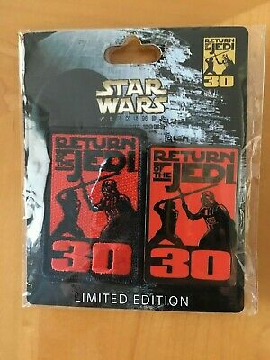 Disney Star Wars Weekends 2013 Return of the Jedi Pin Patch Set Limited Edition