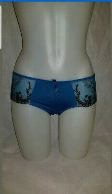 PM3804S Dark Turquoise Floral POUR MOI 'Imogen Rose' Brief Shorts Size 10