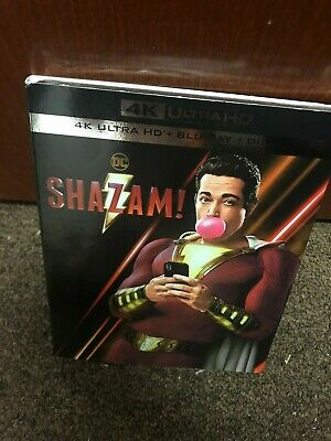 Shazam! (4K Ultra HD and Blu-ray, + Digital 2019) With Slipcover - Brand New