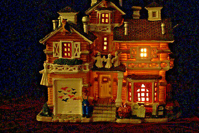 LEMAX Halloween Display Spooky Town Franklin Residence Lighted Display House