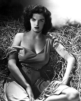 JANE RUSSELL The Outlaw pinup girl 8x10 Black & White Publicity Photo Print