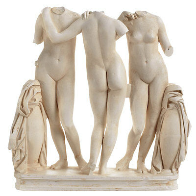 2nd century BC The Three Graces girls Sculpture museum reproduction replica
