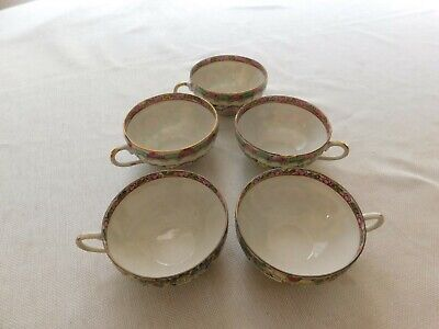 Lot of 5 Antique Chinese Export GuangCai Cups 3-1/2""