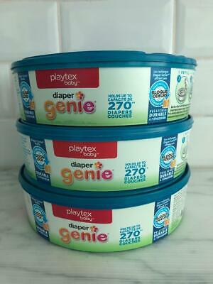 Playtex Baby Diaper Genie Pail Refills New 3-pack 810 count free shipping